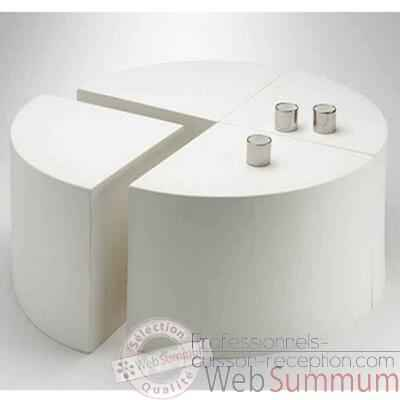 Table Quart de Lune Design FdC - 4000cui