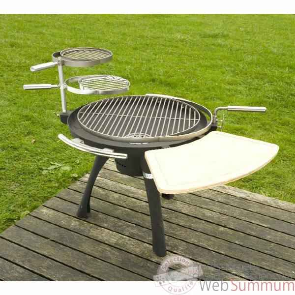 barbecue space 600 charbon ou bois grilltech bbq0008 dans barbecue table et mobile. Black Bedroom Furniture Sets. Home Design Ideas