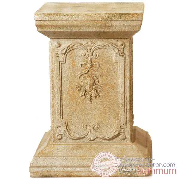 Piedestal et Colonne-Modele Queen Anne Podest, surface en fer-bs1002iro