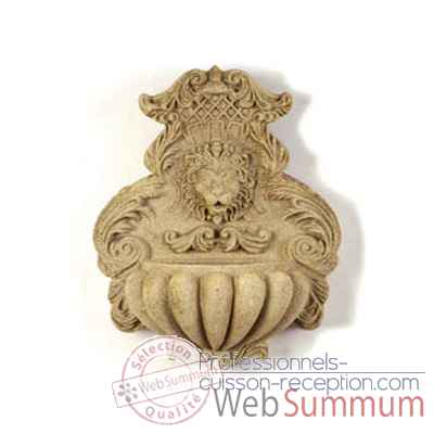 Fontaine-Modele Wall Fountain, surface marbre vieilli combines avec or-bs2184wwg