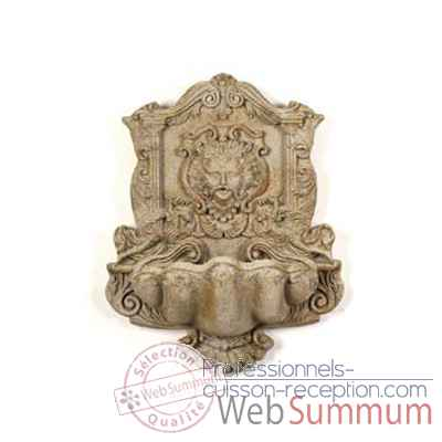 Fontaine-Modele Wind God Wall Fountain, surface pierre romaine-bs2197ros