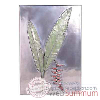 Decoration murale-Modele Hanging Heliconia Positive Wall Plaque, surface aluminium-bs2306alu
