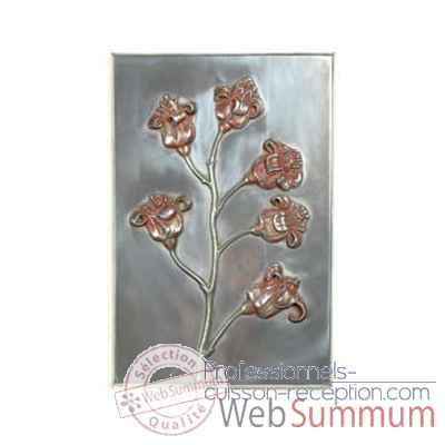 Decoration murale-Modele Poppy Wall Plaque, surface aluminium-bs2313alu