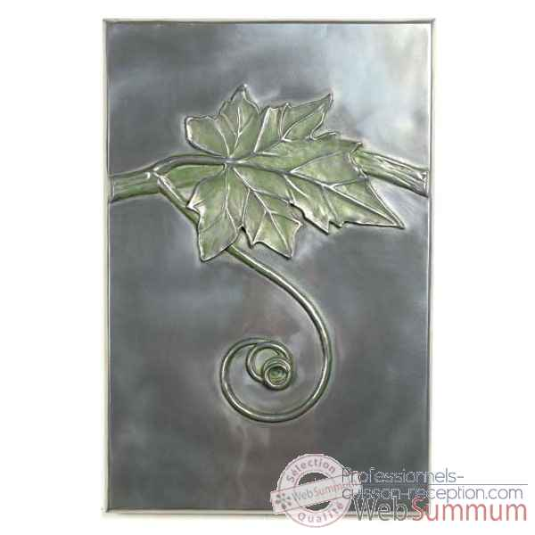 Decoration murale-Modele Grape Vine Wall Plaque, surface aluminium-bs2314alu