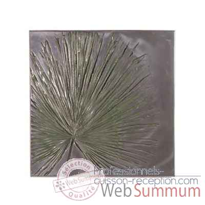 Décoration murale-Modèle  Anahaw Wall Plaque Medium Negative, surface aluminium-bs2324alu