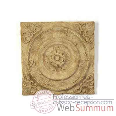 Decoration murale-Modele Rondelle Wall Plaque, surface bronze avec vert-de-gris-bs3166vb