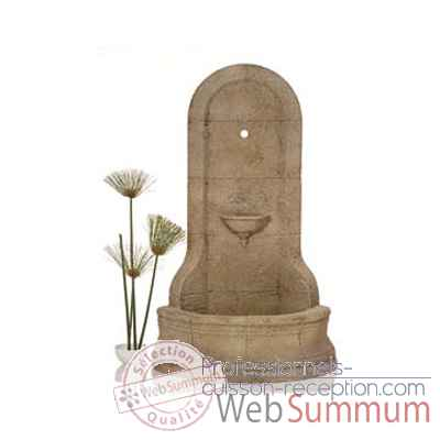 Fontaine-Modele Cordova Wall Fountain, surface marbre vieilli-bs3185ww