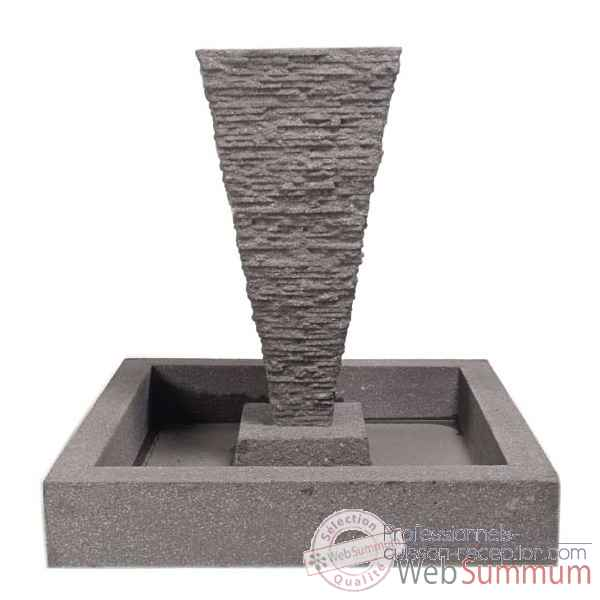 Fontaine-Modele Square Basin, surface aluminium-bs3302alu
