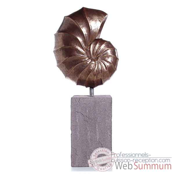 Sculpture-Modele Nautilus Giant Garden Sculpture, surface bronze nouveau-bs3318nb/lava