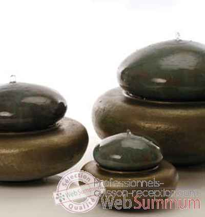 Fontaine-Modele Heian Fountain medium, surface granite avec bronze-bs3365gry/vb