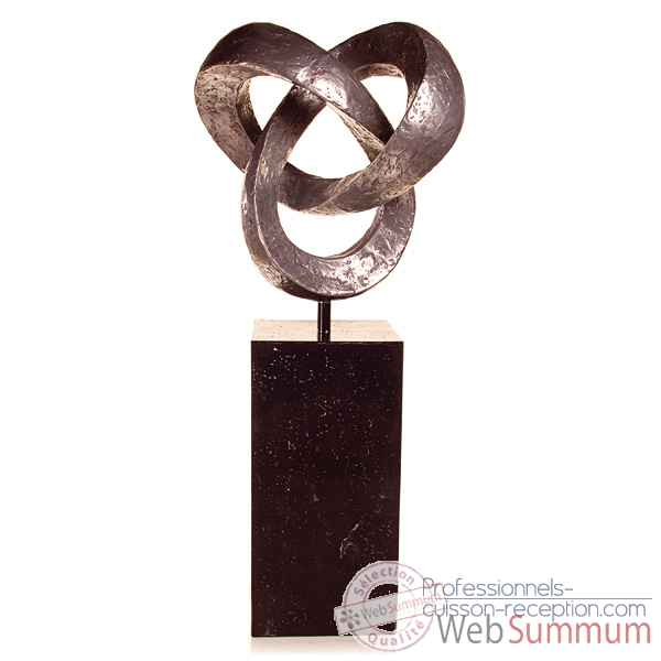 Sculpture-Modele Trifoil Garden Sculpture, surface bronze nouveau-bs3410nb/alabnp