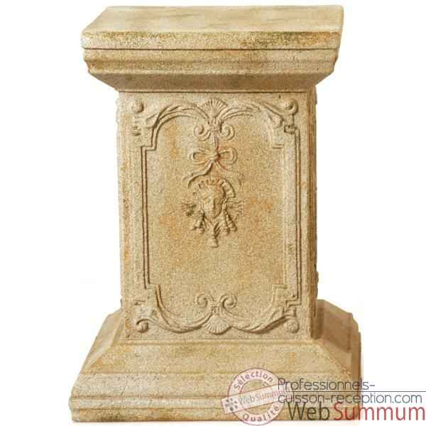 Colonne et Piedestal Queen Anne Podest, granite -bs1002gry