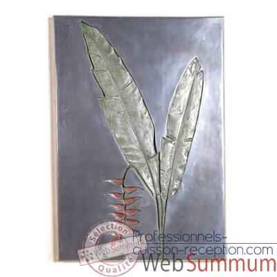 Décoration murale Hanging Heliconia Negative Wall Plaque, aluminium -bs2307alu