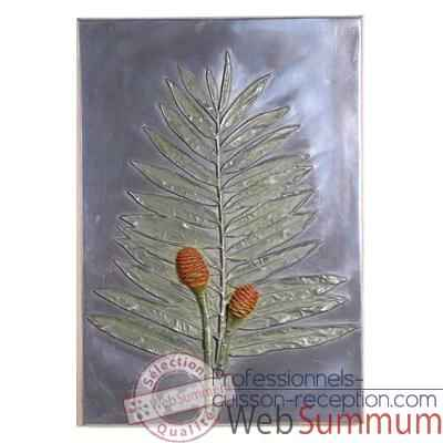 Decoration murale Torch Ginger Positive Wall Plaque, aluminium -bs2308alu