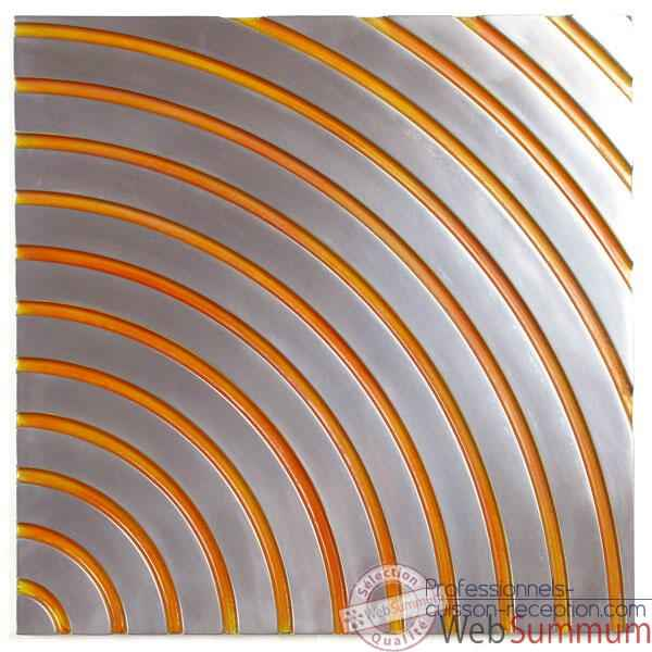 Decoration murale Concentric Wall Panel Junior, metal aluminium patine or -bs2397alu -or