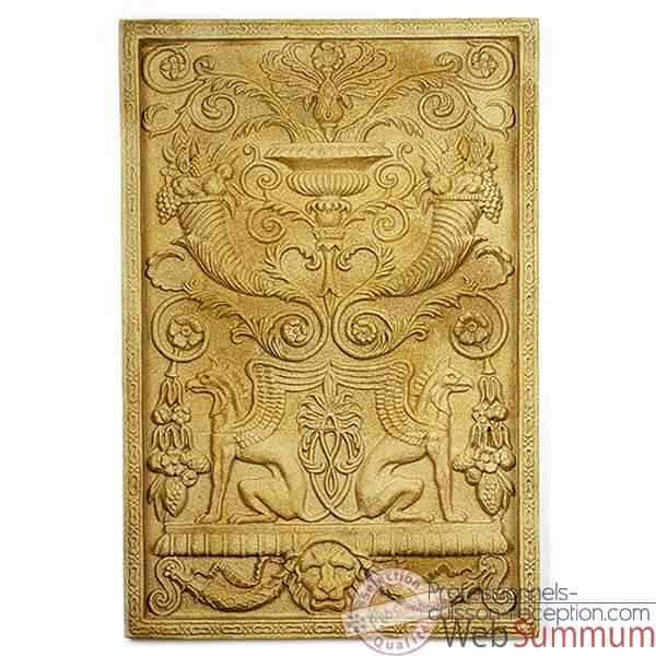 Decoration murale Wall Decor -Griffin Motif, granite -bs2602gry