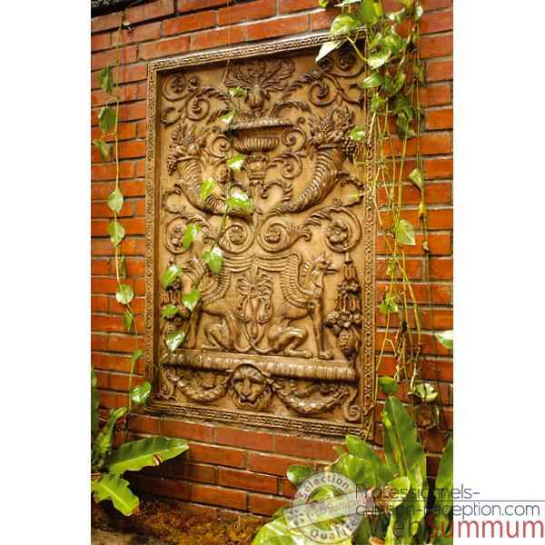 Decoration murale Wall Decor -Griffin Motif, rouille -bs2602rst
