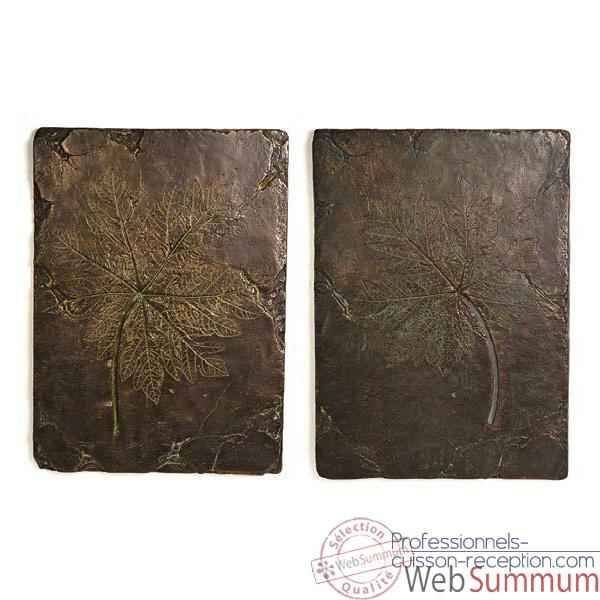 Decoration murale Papaya Wall Plaques, bronze nouveau -bs4089nb