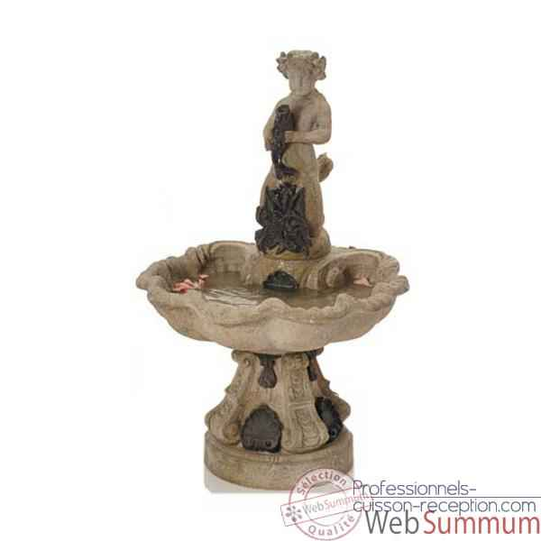 Fontaine Alsace Fountain, marbre vieilli combines or -bs3103wwg