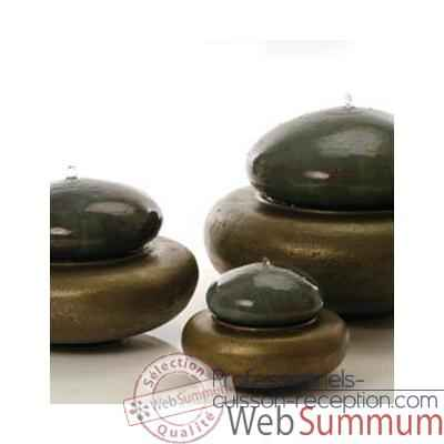 Fontaine Heian Fountain small, granite et bronze -bs3364gry -vb