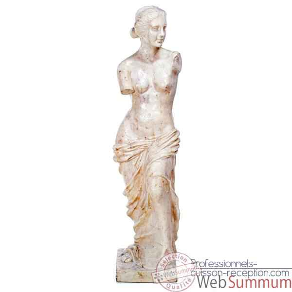 Video Sculpture Venus de Milo, pierre albatre blanc -bs3135alaw