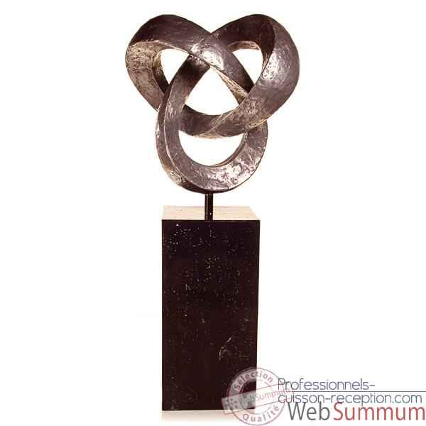 Sculpture Trifoil Garden Sculpture, aluminium -bs3410alu -alabnp