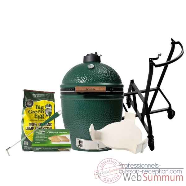 Barbecue Kamado EGG multifonction large -pack chariot Big Green Egg -PACORCH-L