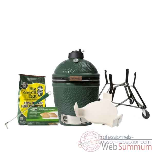 Barbecue Kamado EGG multifonction medium -Pack Original berceau Big Green Egg -WPORM