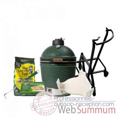 Barbecue Kamado EGG multifonction medium -Pack Original chariot Big Green Egg -PACORCH-M
