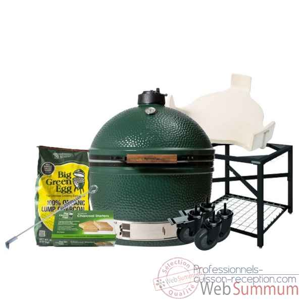 Barbecue multifonction Kamado EGG- xlarge Pack Original table modulaire Big Green Egg -PACORTM-XL