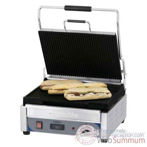Grill panini grand premium rainuree - rainuree avec minuteur meuble de preparation - casselin -CGPRRGPT
