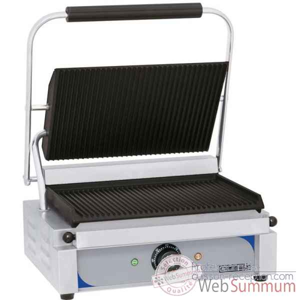 Grill panini plaques rainuree - rainuree meuble de preparation - casselin -CGPRR