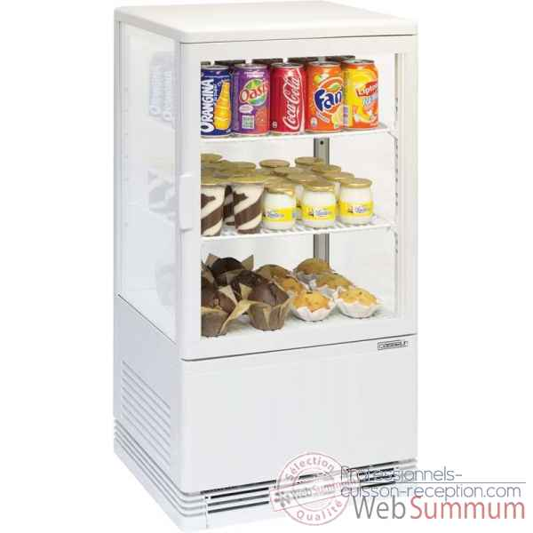 Mini vitrine refrigeree positive 58l restauration collectivite - casselin -CVR58LB