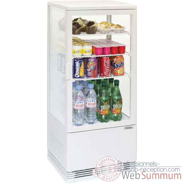 Mini vitrine refrigeree positive 78l blanche restauration collectivite - casselin -CVR78LB