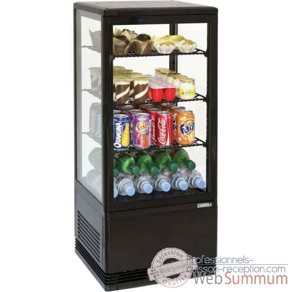 Mini vitrine refrigeree positive 78l noire restauration collectivite - casselin -CVR78LN
