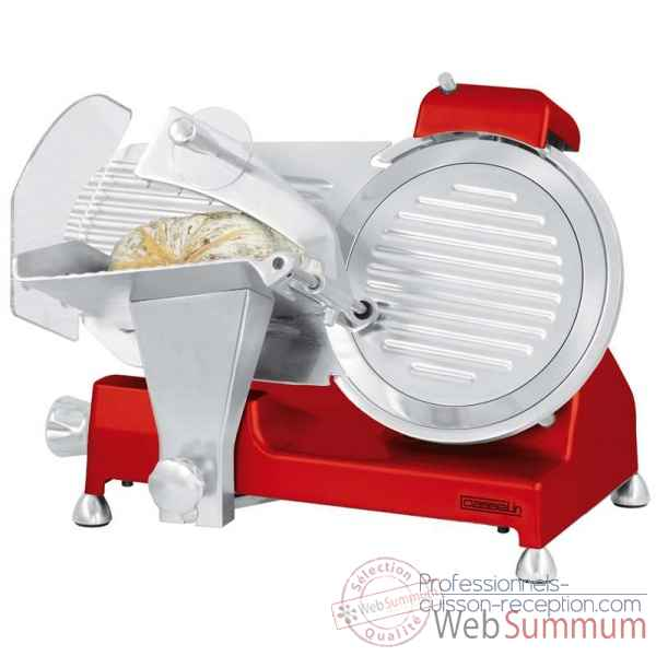 Trancheuse a jambon o 250 mm rouge - casselin preparation cuisine qualite professionnelle -CTJ250BR