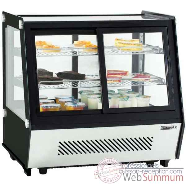 Vitrine refrigeree a poser double portes 125l restauration collectivite - casselin -CVR125L