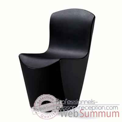 Chaise Design Noire Zoe Slide - SD ZOE080