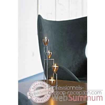 2 Chandeliers de table Tulip finition acier brillant Aristo - 825245