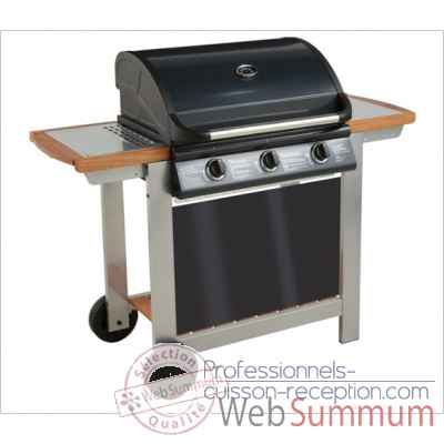 Barbecue gaz mixte a capot fiesta 3 Cookingarden -AM006TW