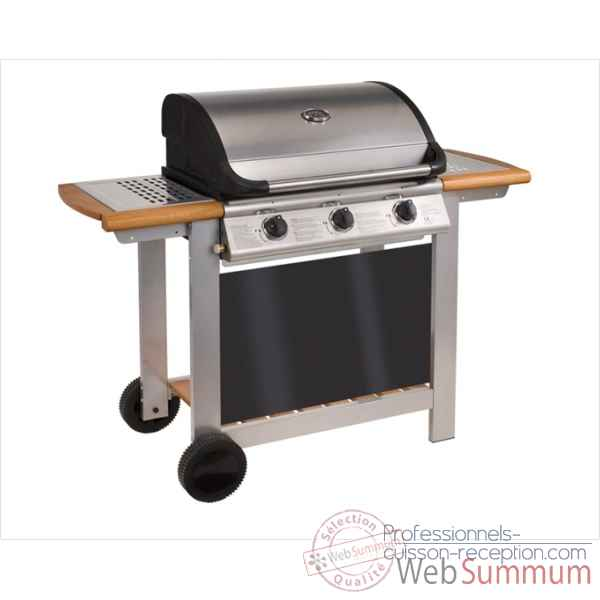 Barbecue gaz mixte a capot riviera 3  Cookingarden -AM006TWI