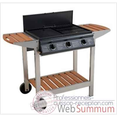 Barbecue mixte au gaz Fiesta 3 de Cook'in garden