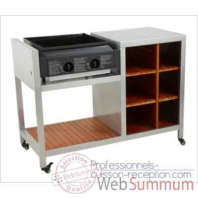 Cook'in plancha - titane & bois Cookingarden -BG155FTWTI