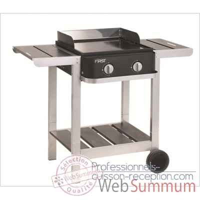 Plancha first sur chariot 2 bruleurs Cookingarden -BG1402PTW