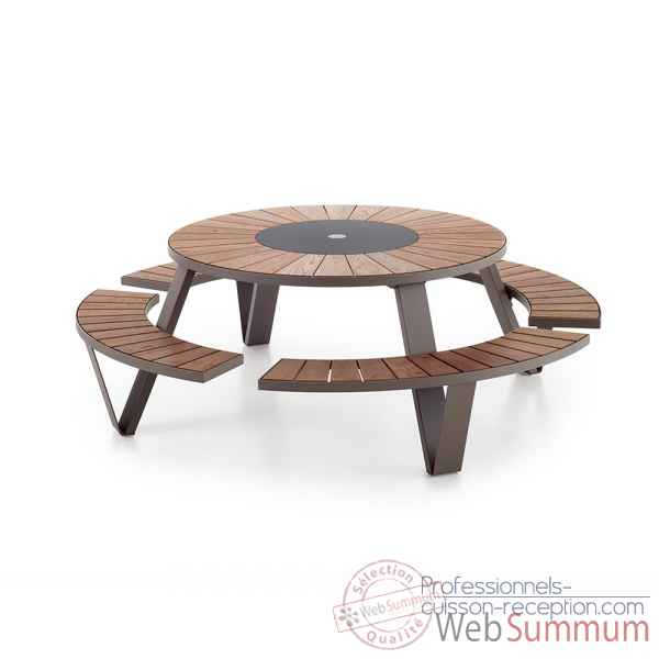 Table picnic pantagruel cadre & pieds laque earth, h.o.t.wood Extremis -PAEH