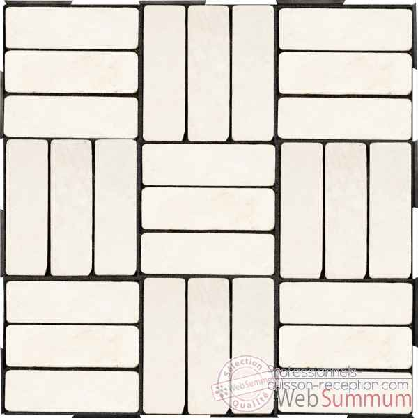4 Dalles clipsables rectangles blancs a l\'italienne Fabulous Garden -SM102088