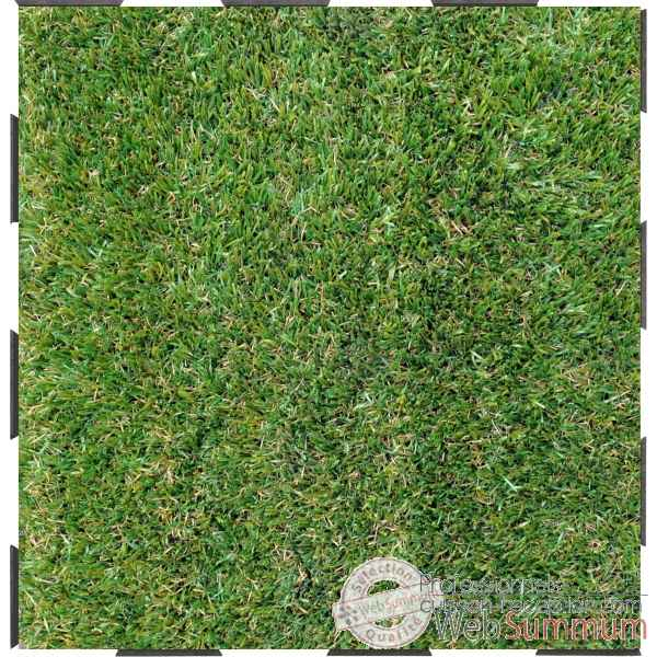 4 Dalles clipsables gazon vert grand confort sud Fabulous Garden -SM101791