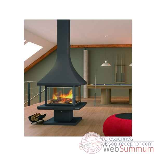 cheminee metallique lorca d 39 angle le marquier poe29 dans m tal de chemin e. Black Bedroom Furniture Sets. Home Design Ideas