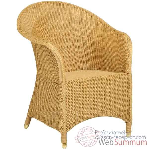 fauteuil sidonie rotin loom sans coussin kok 1313l dans fauteuil salon bois naturel. Black Bedroom Furniture Sets. Home Design Ideas