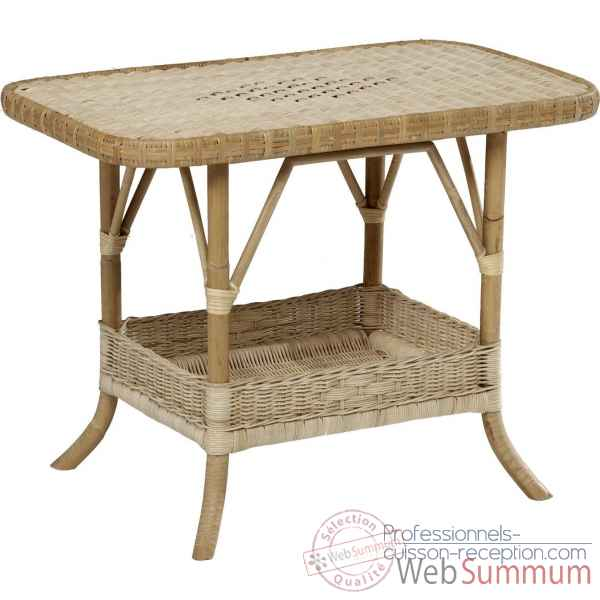 Table basse Rotin Grand Pere sans filets de couleurs - naturel KOK 796